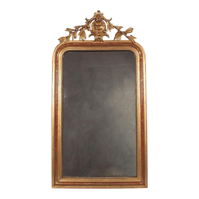 Antique French Louis XVI Giltwood Mirror - Image 1 of 10