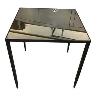 Contemporary Bernhardt Triton Square Mirrored Table For Sale