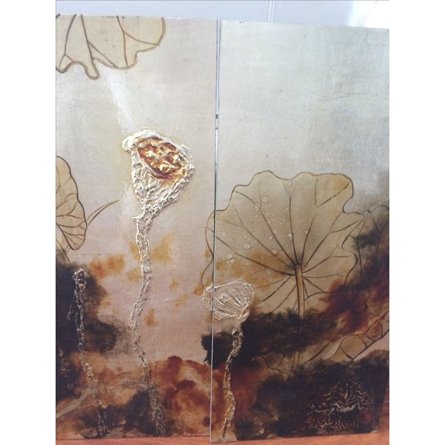 Vintage Asian Lacquer Four Panel Art - Image 7 of 7
