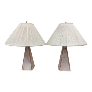 Pink Marble Table Lamps For Sale
