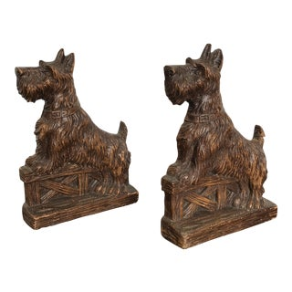 Syrco Mid-Century Scottie Dog Bookends - a Pair