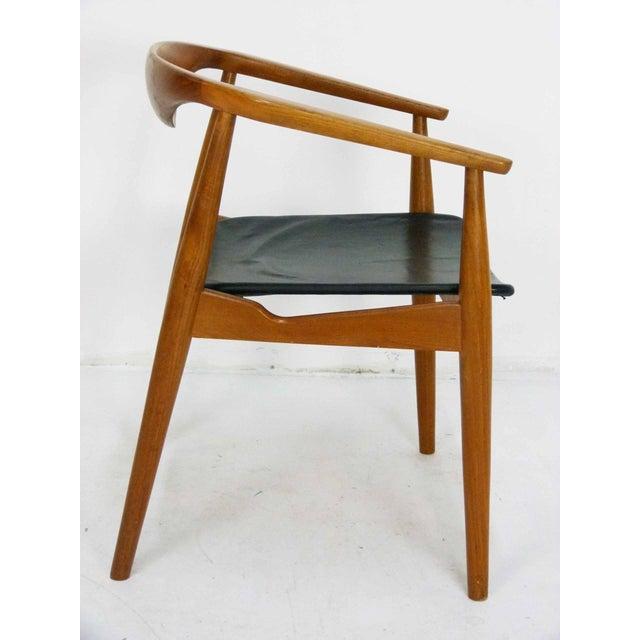 Danish Modern Teak Barrel Arm Chair - Image 4 of 10