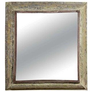 Antique Painted Zinc Mirror For Sale