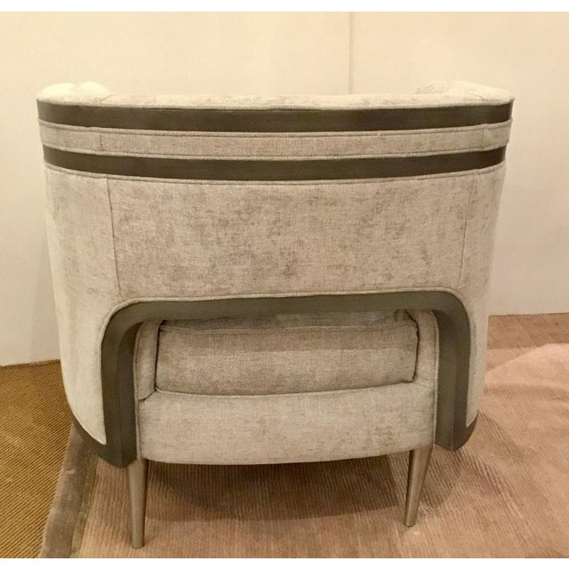 2010s Caracole Modern Tranquil Gray Club Chair For Sale - Image 5 of 7