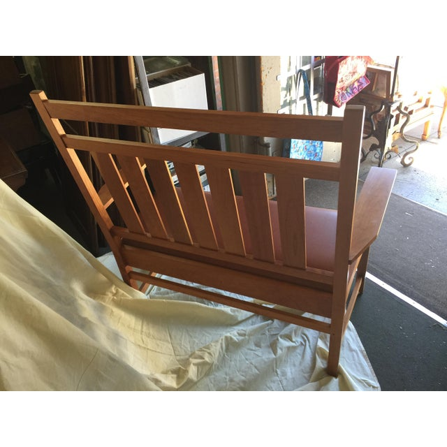 Wood Harvey Ellis Stickley Bench in Cherry For Sale - Image 7 of 10