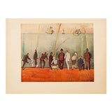 """Image of 1954 Raoul Dufy, """"Fishermen With Lines"""" First Edition Lithograph For Sale"""