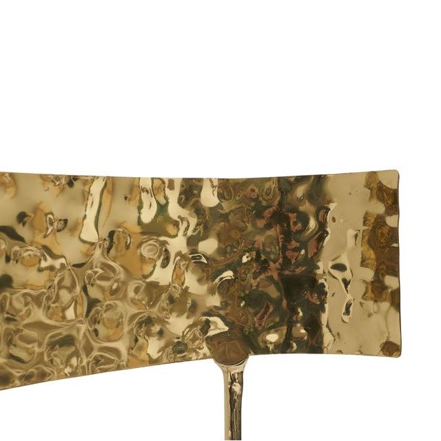 Aqua Brass Klismos Chair by Sylvan Sf For Sale In San Francisco - Image 6 of 9