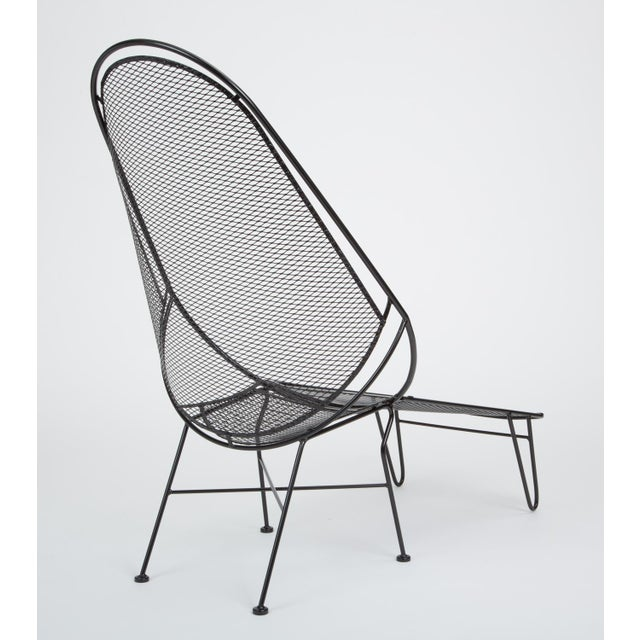 Black Scoop Lounge Chair With Ottoman by Maurizio Tempestini for Salterini For Sale - Image 8 of 13