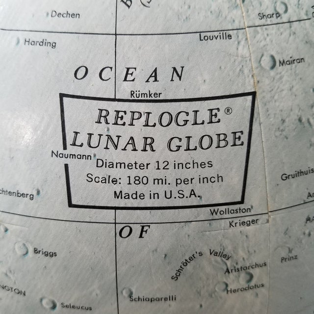 Mid Century Replogle Lunar Moon Globe For Sale - Image 4 of 10