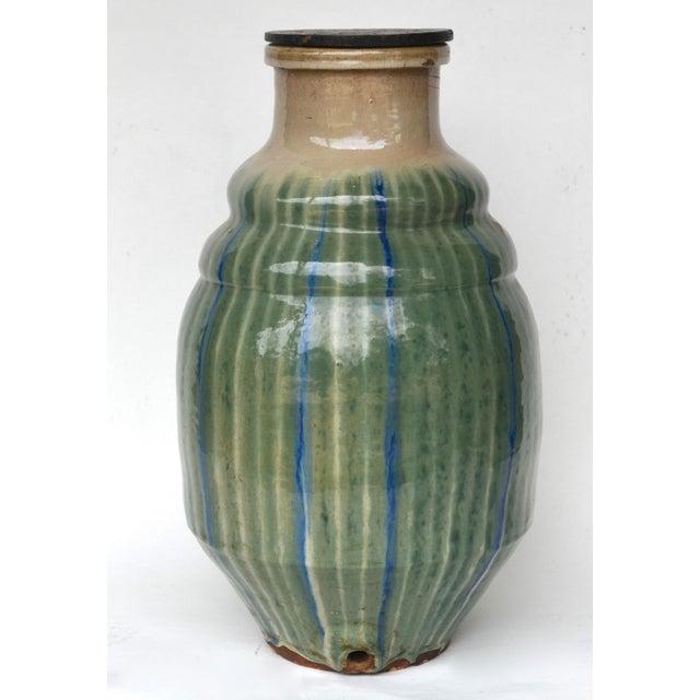 Stunning 19th-C Japanese Shigaraki Ceramic Water Storage Jar For Sale - Image 9 of 9