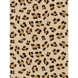 Image of Scalamandre Broderie Leopard, Chocolate on Sand Fabric For Sale