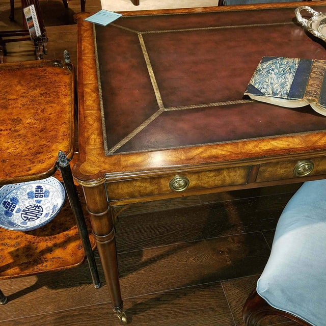 Mahogany Leather Top Desk For Sale - Image 4 of 5