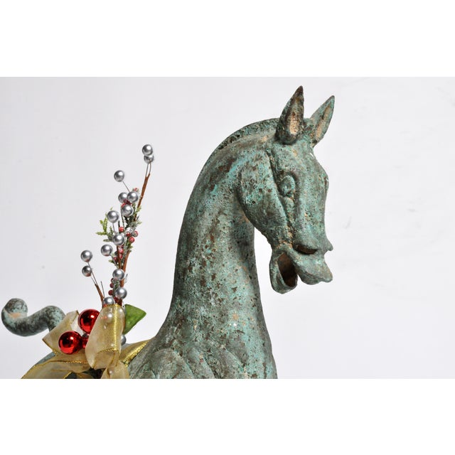 Brass Han Dynasty Style Horse For Sale - Image 7 of 13