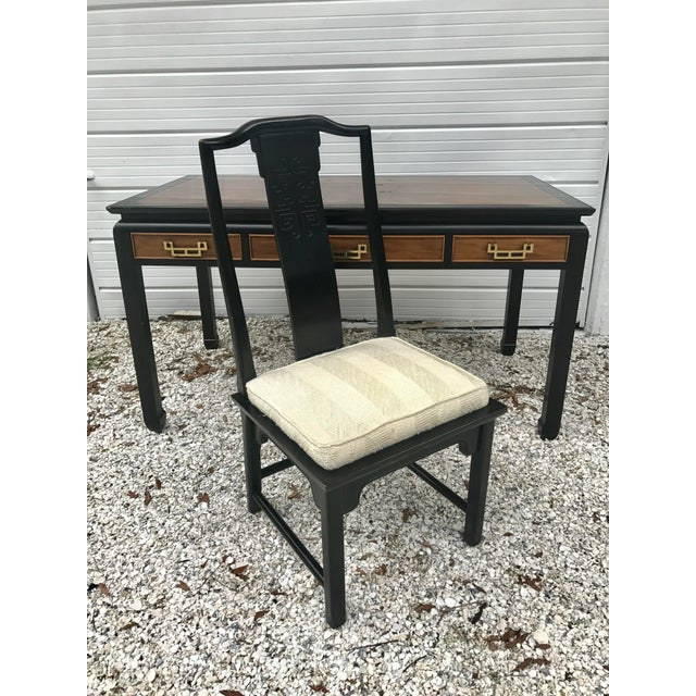 Asian Vintage Century Furniture Chin Hua Chinoiserie Desk and Chair For Sale - Image 3 of 11