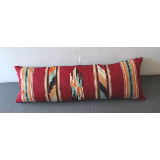 Primitive Amazing Large Mexican American Bolster Pillow For Sale - Image 3 of 5