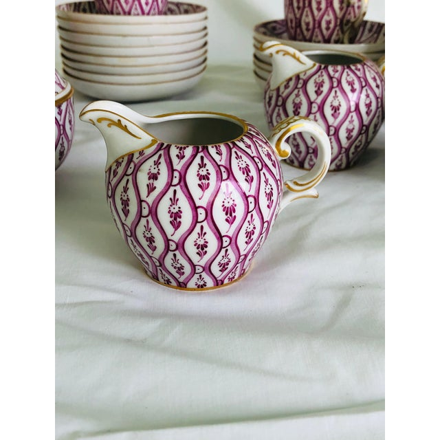 Nymphenburg Porcelain Nymphenburg Porcelain 36 Piece Demitasse Coffee Service For Sale - Image 4 of 8