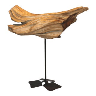 Decorative Driftwood Fragment on Stand For Sale
