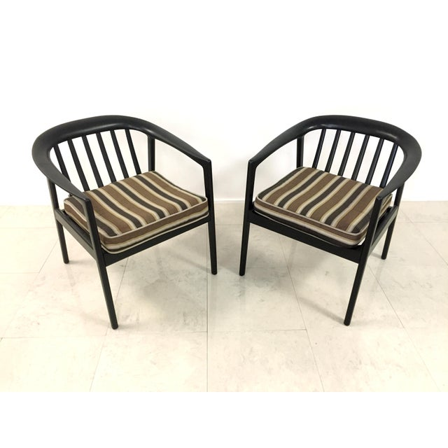 Danish Modern Dux Folke Ohlson Danish Modern Chairs - A Pair For Sale - Image 3 of 7