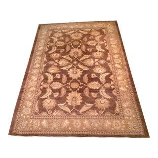 10x14 Oushak-Style Handknotted Handmade Rug For Sale