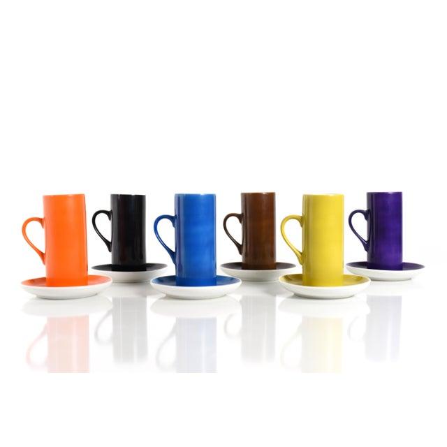 Ceramic La Gardo Tackett Set of 6 Espresso / Demitasse Cups Set by Schmid, 1960s For Sale - Image 7 of 7