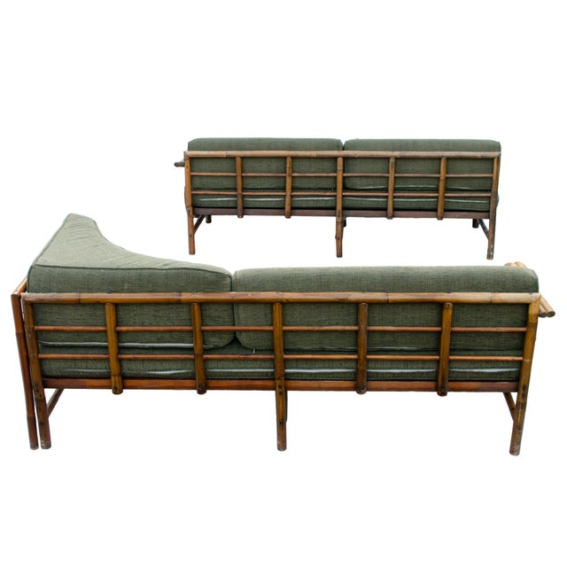 Mid-Century Rattan Sectional Sofa - Image 4 of 11