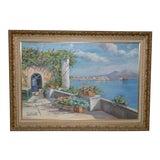 Image of Contemporary Mount Vesuvius Landscape Oil Painting For Sale