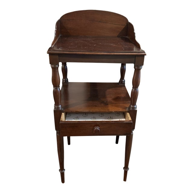 Gallery Back Sheraton Style Wash Stand For Sale