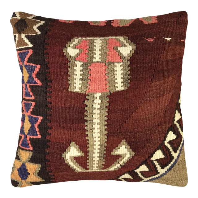 "Bold Boho Kilim Pillow | 20"" For Sale"