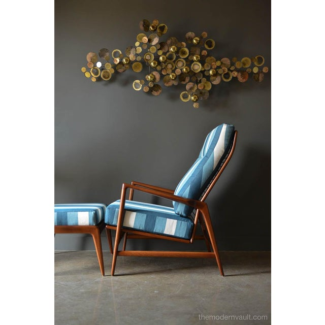 Selig 1960s Vintage I.B. Kofod Larsen for Selig Reclining Chair & Ottoman - 2 Pieces For Sale - Image 4 of 12