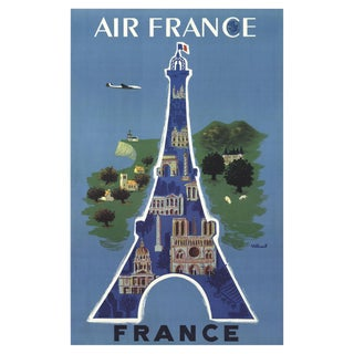 2002 Vintage Bernard Villemot Air France Poster For Sale