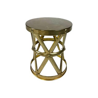 Brass Drum Stool For Sale
