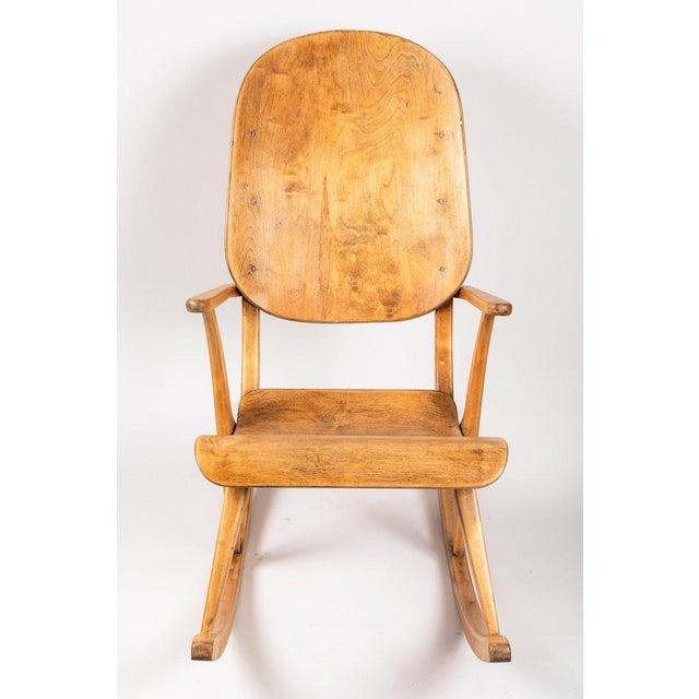 1940s Vintage Ilmari Tapiovaara Rocking Chair For Sale In Los Angeles - Image 6 of 13