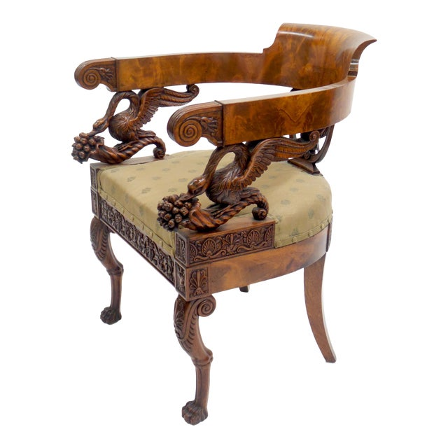 Exceptional Early 19th Century Neopolitan Armchair For Sale