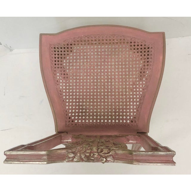1990s F. Louis XVI Style Chair in Pink For Sale - Image 5 of 8
