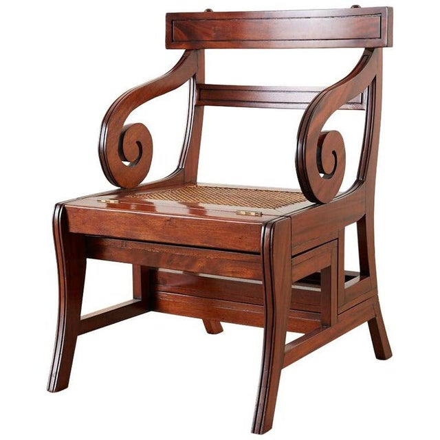 English Regency Style Mahogany Metamorphic Library Step Chair For Sale - Image 13 of 13