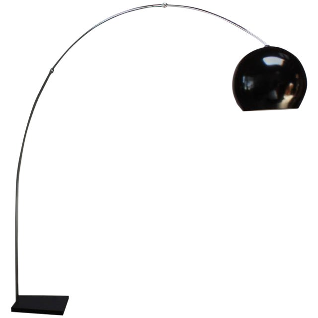 Fully Adjustable Vintage Arching Floor Lamp - Image 1 of 9
