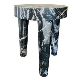 Abstract Sculptural Marble Large Side Table For Sale