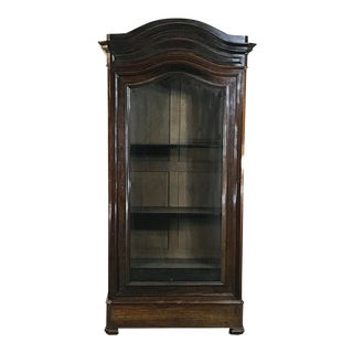 19th Century French Louis Philippe Rosewood Display Armoire ~ Bookcase For Sale