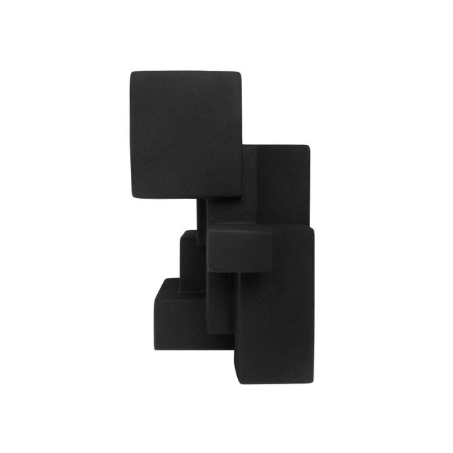 """Negative Space 5.3"" Matte Black Sculpture in Rubber Finish by Dan Schneiger For Sale - Image 4 of 5"