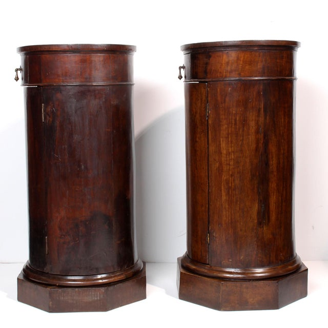 Italian 19th C. Italian Column Pedestal Cabinets - a Pair For Sale - Image 3 of 12