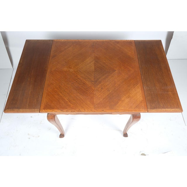 Louis Philippe-Style Square Parque Extendable Table For Sale - Image 10 of 12