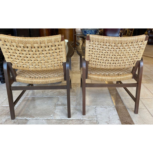Sand Danish Mid Century Modern Rope Armchairs - a Pair For Sale - Image 8 of 10