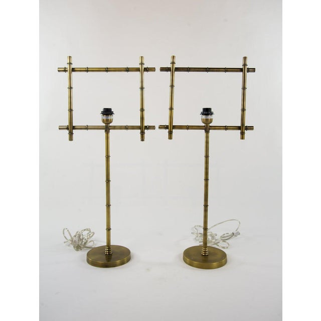 Brass Ellington Table Lamps - A Pair - Image 7 of 7