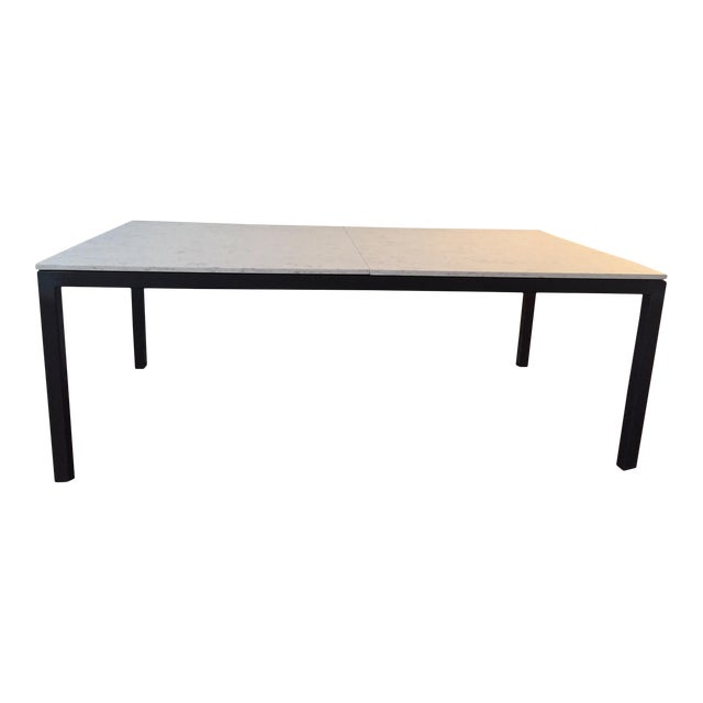 Room Board Marble Quartz Top Parsons Table Chairish - Room and board marble table