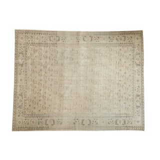 "Vintage Distressed Oushak Carpet - 7'2"" X 9'5"" For Sale"
