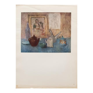 1948 Pablo Picasso Original Still Life Lithograph With C. O. A. For Sale