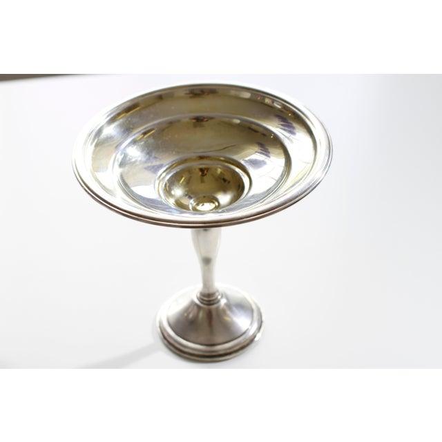 Antique Sterling Silver Berkeley International Pedestal Serving Dish For Sale - Image 11 of 11