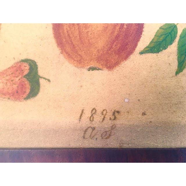 American Folk Art Fruit Still Life Painting, circa 1895 For Sale - Image 9 of 11