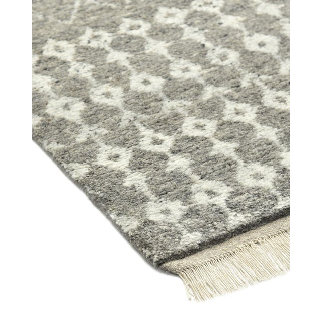 Moroccan Vinay, Bohemian Moroccan Hand Knotted Area Rug, Gray, 5 X 8 For Sale - Image 3 of 9