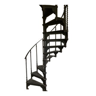 Early 20th Century Cast Iron Spiral Staircase For Sale